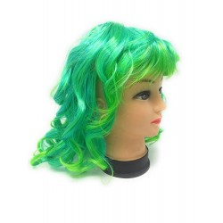 Parrucca Sirena Verde/Turchese Ondulata