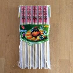 10 Paia di Bacchette Cinesi in Bamboo Naturale