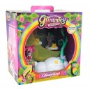 Glimmies Rainbow Friends - Glimwheel con Mini Doll Esclusiva