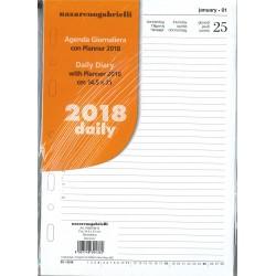 Ricambio Organizer Giornaliero 2018 Formato A5 (14,5 x 21 cm)