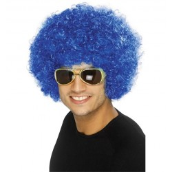 Parrucca Afro Blu