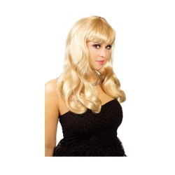 Parrucca lunga liscia Bionda