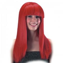Parrucca lunga liscia Rossa