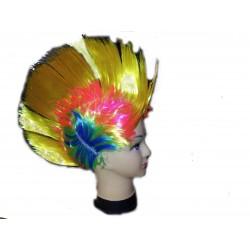 Parrucca cresta multicolore