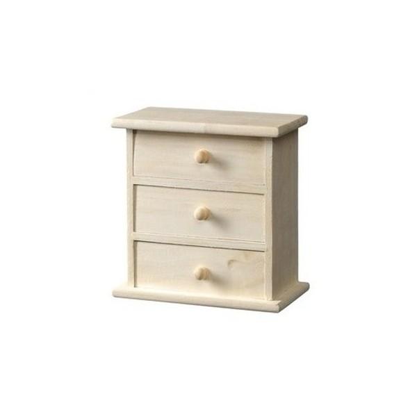 Cassettiera legno grezzo legno cassettiera grezzo - Mini cassettiera ikea ...