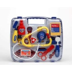 Set Valigetta da dottore con strumenti medici per giocare a curare e salvare vite cm 27X24X6