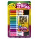 Pennarelli Ricarica per Aerografo Color Spray con Stencil - Crayola