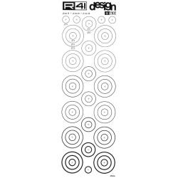 R41 - Trasferibili Grafica Balaustrino, G782, diametro 10m, 20mm, 30mm, NERO.