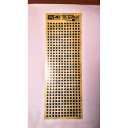 Trasferibili R41. Elettronica Circle Pads, C41, NERO.