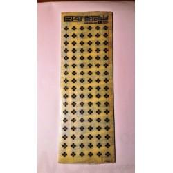 Trasferibili R41. Elettronica Transistor C704, NERO. In fogli 9x25cm