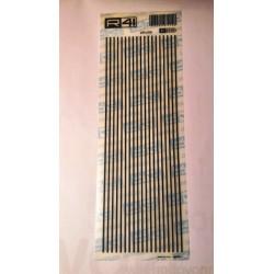 Trasferibili R41. Elettronica Lines C2008, NERO. In fogli 9x25cm