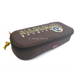 Astuccio Scuola Napapijri Pencil Case - North Cape Chestnut