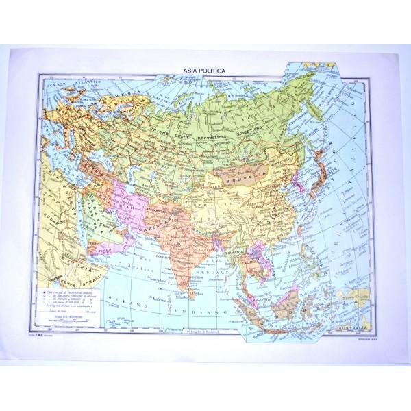 Cartina Politica Asia.Asia Fisica Politica Carta Geografica Studio F M B Bologna 1 40 000 000 Il Punto Esclamativo