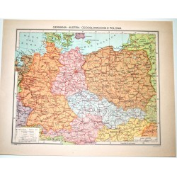 EUROPA CENTRALE FISICA - POLITICA \ Carta Geografica - Studio F.M.B. Bologna 1:4.500.000