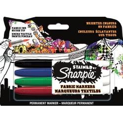 Sharpie Stained - 4 Pennarelli Indelebili Colori Assortiti