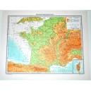 FRANCIA FISICA - POLITICA \ Carta Geografica - Studio F.M.B. Bologna 1:4.500.000