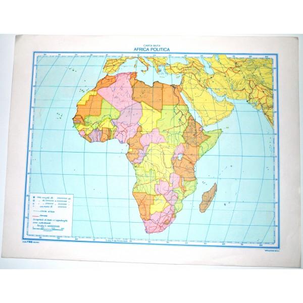 Cartina Muta Mondo Fisica.Africa Fisica Politica Carta Geografica Muta Studio F M B Bologna 1 40 000 000 Il Punto Esclamativo