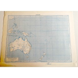 OCEANIA FISICA - POLITICA \ Carta Geografica - Studio F.M.B. Bologna 1: 40.000.000