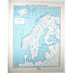 SCANDINAVIA FISICA - POLITICA \ Carta Geografica - Studio F.M.B. Bologna 1: 7.500.000