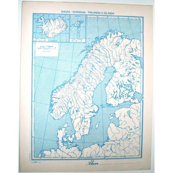 Cartina Geografica Norvegia Fisica.Scandinavia Fisica Politica Carta Geografica Studio F M B Bologna 1 7 500 000 Il Punto Esclamativo