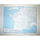 FRANCIA FISICA - POLITICA \ Carta Geografica - Studio F.M.B. Bologna 1: 4.500.000
