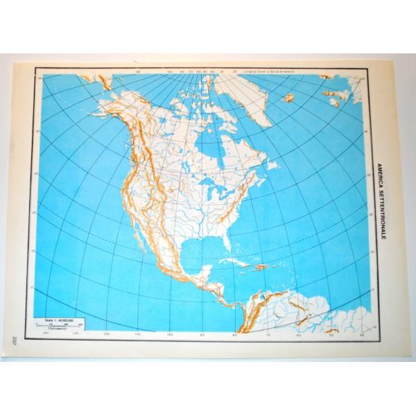 Cartina Muta Mondo Fisica.Amerca Del Nord E Del Sud Fisica Politica Carta Geografica Carta Muta Per Test Scolastici 1 45 000 000 Il Punto Esclamativo
