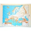 EUROPA E ITALIA DEL SUD - POLITICA \ Carta Geografica - Carta Muta per test scolastici 1: 22.000.000