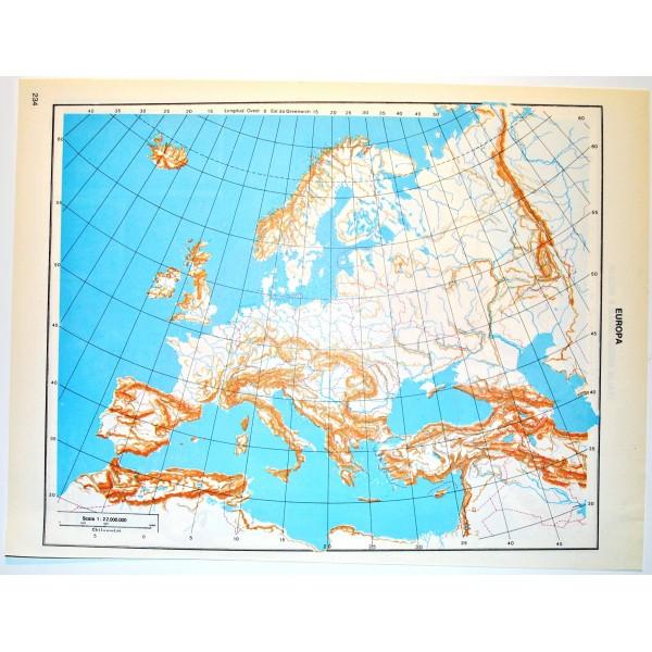 Italia Politica Cartina Muta.Europa E Italia Del Sud Politica Carta Geografica Carta Muta Per Test Scolastici 1 22 000 000 Il Punto Esclamativo