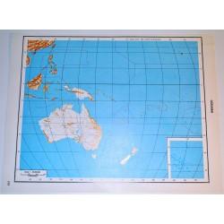OCEANIA - POLITICA \ Carta Geografica - Carta Muta per test scolastici 1: 45.000.000