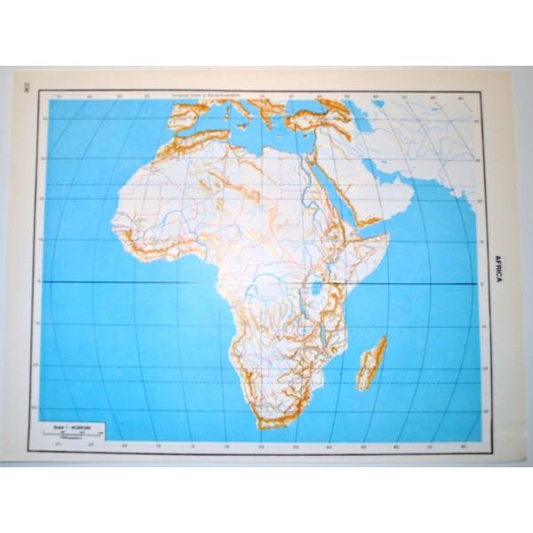 Cartina Asia Fisica Muta.Asia E Africa Politica Carta Geografica Carta Muta Per Test Scolastici 1 45 000 000 Il Punto Esclamativo