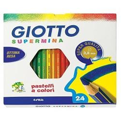 Pastelli Supermina Giotto, 3.8 mm, Confezione da 24