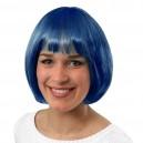 Parrucca Caschetto Blu Cobalto